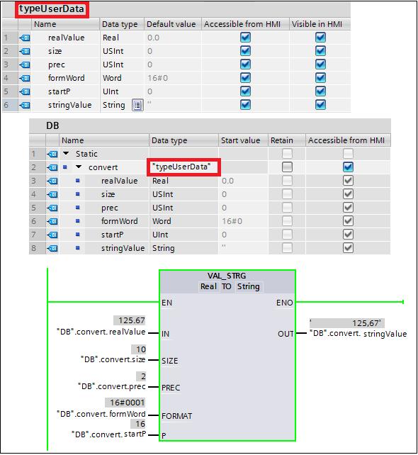 Tipos de datos en tia portal
